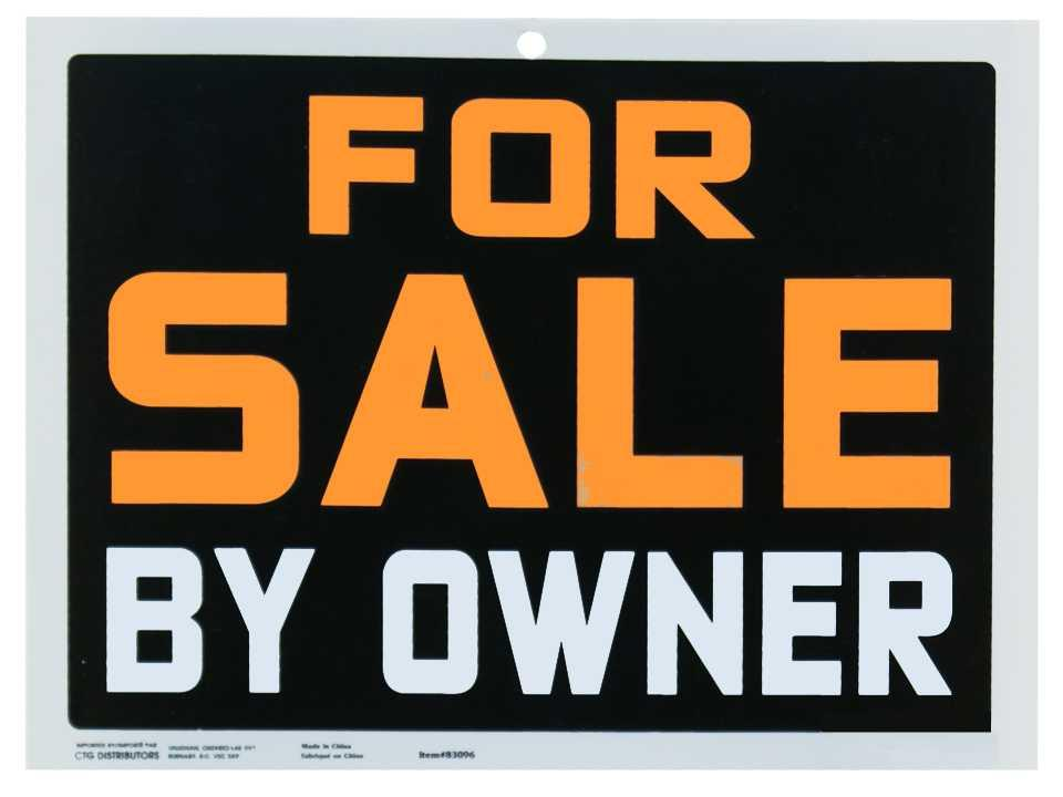 9×12 Pvc Sign For Sale by Owner
