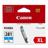 Canon CLI-281XL Original Cyan Ink Cartridge High Yield (2034C001)