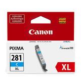 Canon CLI-281XL 2034C001 Original Cyan Ink Cartridge High Yield