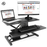 Electric Height Adjustable Sit-Stand Desk Converter PrimeCables®