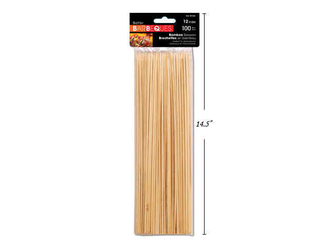 BBQ 100ct. 12 Bamboo Skewers