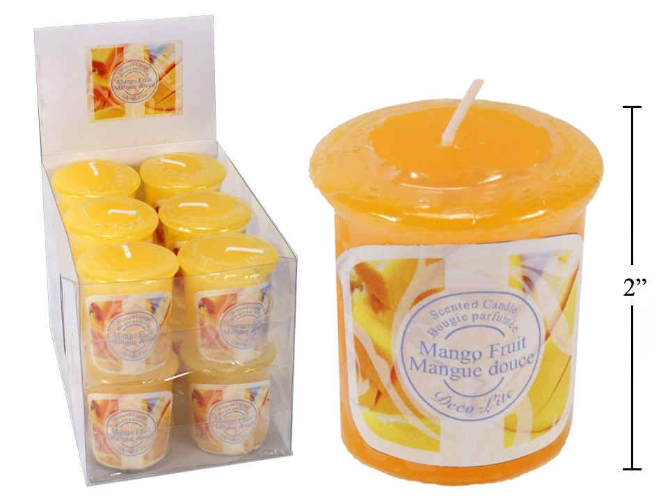 Deco Lite Scented Votive Candle, Mango Fruit, 1Pc