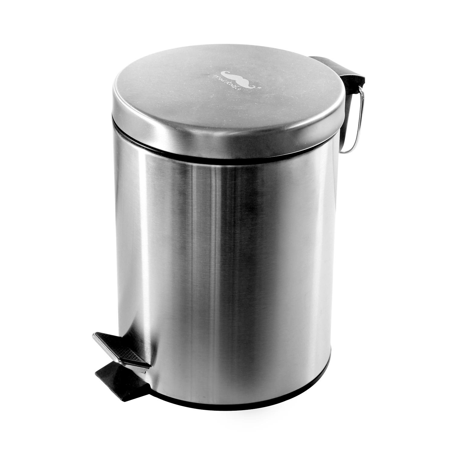 Stainless Steel Step Trash Can, 5L (20 x 27 cm) - Moustache®