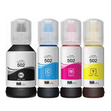 Epson T502 Compatible Ink Bottle Combo BK/C/M/Y