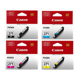 Canon CLI-271 Original Ink Cartridge Combo BK/C/M/Y (0390C006)