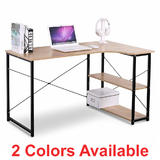 L-Shape Writing Desk with 2 Storage Shelves - Moustache®