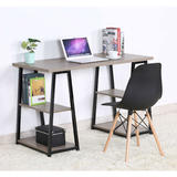 Double Pedestal Writing Desk  With 4 Storage Shelves - Moustache®