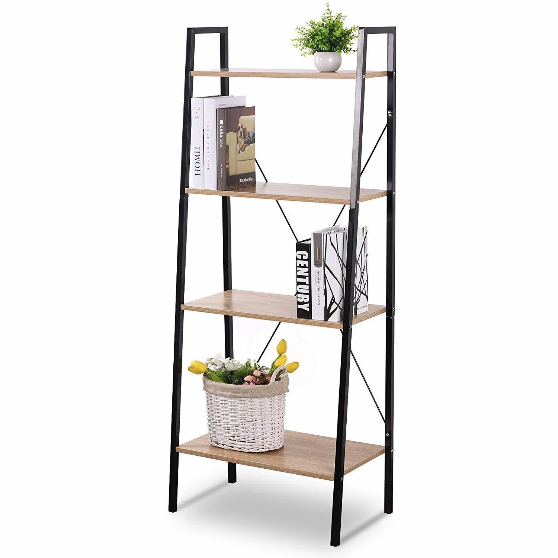 Wooden Ladder 4 Tier Bookshelf - Moustache®