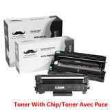 Brother TN770 DR730 Compatible Toner Cartridge and Drum Combo (With Chip for TN770) - Moustache®
