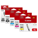 Canon PGI-280XL CLI-281XL Original Ink Cartridge High Yield Combo PB/BK/C/M/Y