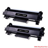 Brother TN760 Compatible Black Toner Cartridge High Yield - With Chip - Economical Box - 2/Pack