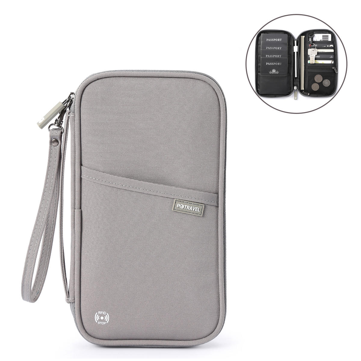 P.Travel RFID Block Waterproof Passport Wallet with Card Holder