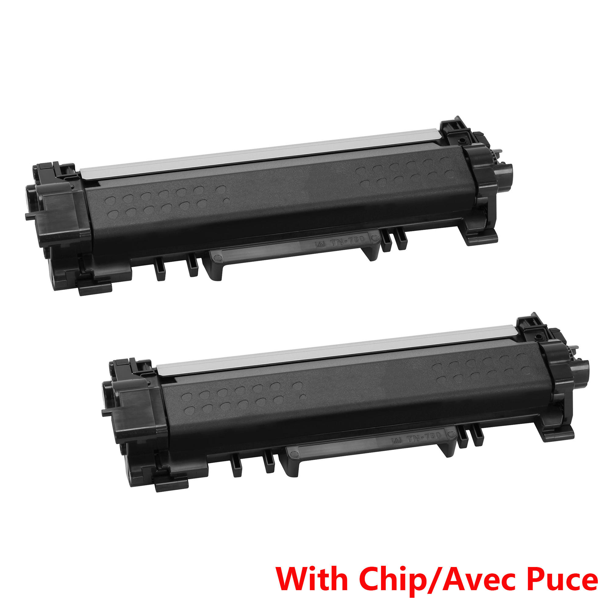 Brother TN730 Compatible Black Toner Cartridge - With Chip - Economical Box