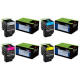 Lexmark 701 70C10 Original Return Program Toner Cartridge Combo BK/C/M/Y