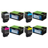 Lexmark 701H 70C1H Original Toner Cartridge Combo High Yield BK/C/M/Y
