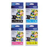 Brother LC75 Original Ink Cartridge Combo High Yield BK/C/M/Y