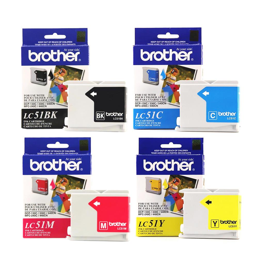 Brother LC51 Original Ink Cartridge Combo BK/C/M/Y