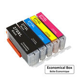 Canon PGI270XL CLI271XL Compatible Ink Cartridge Combo PGBK/BK/C/M/Y - Economical Box
