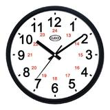 "Geo® 12"" 12/24 Hour Wall Clock"