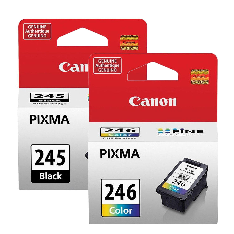 Canon PG245 CL246 8279B001AA 8281B001AA Original Ink Cartridge Combo