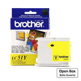 Brother LC51Y Original Yellow Ink Cartridge - Open Box