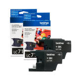 Brother LC71BK Original Black Ink Cartridge Twin Pack