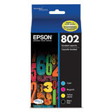 Epson T802 T802120-BCS Original Ink Cartridge Combo BK/C/M/Y