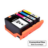 Remanufactured HP 902XL Ink Cartridge Combo High Yield BK/C/M/Y - Economical Box