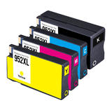 Remanufactured HP 952XL Ink Cartridge Combo High Yield BK/C/M/Y - Economical Box