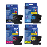 Brother LC107 LC105 Original Ink Cartridge Combo Extra High Yield BK/C/M/Y