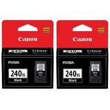 Canon PG-240XL Original Black Ink Cartridge High Yield Twin Pack (5206B001)