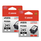 Canon PG245XL Original Black Ink Cartridge High Yield Twin Pack (8278B001)