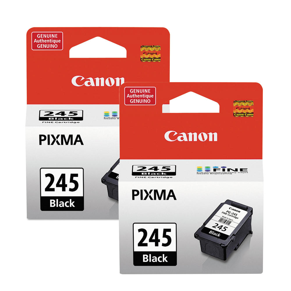 Canon PG245 8279B001 Original Black Ink Cartridge Twin Pack