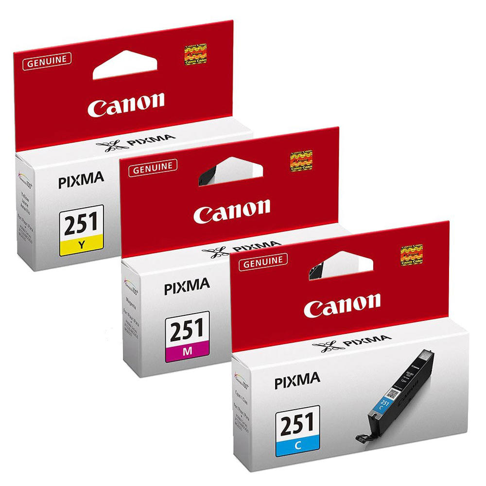Canon CLI-251 Original Tri-Color Ink Cartridge Combo C/M/Y
