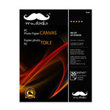 "Canvas Resin Coated Photo Paper, 8.5"" x 11"", 20 Sheets/Pack, 260gsm - Moustache®"
