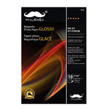 "Magnetic Glossy Photo Paper, 4"" x 6"", 10 Sheets/Pack, 650 gsm - Moustache®"