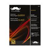 """Premium Photo Paper 20 Sheets, Glossy, 8.5"""" x 11"""" - Moustache®"""