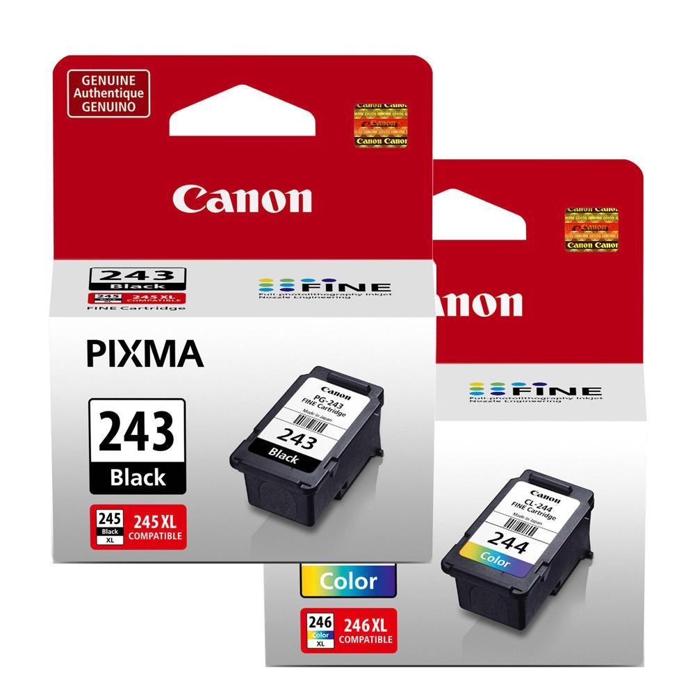 Canon PG-243 CL-244 1287C001 1288C001 Original Ink Cartridge Combo