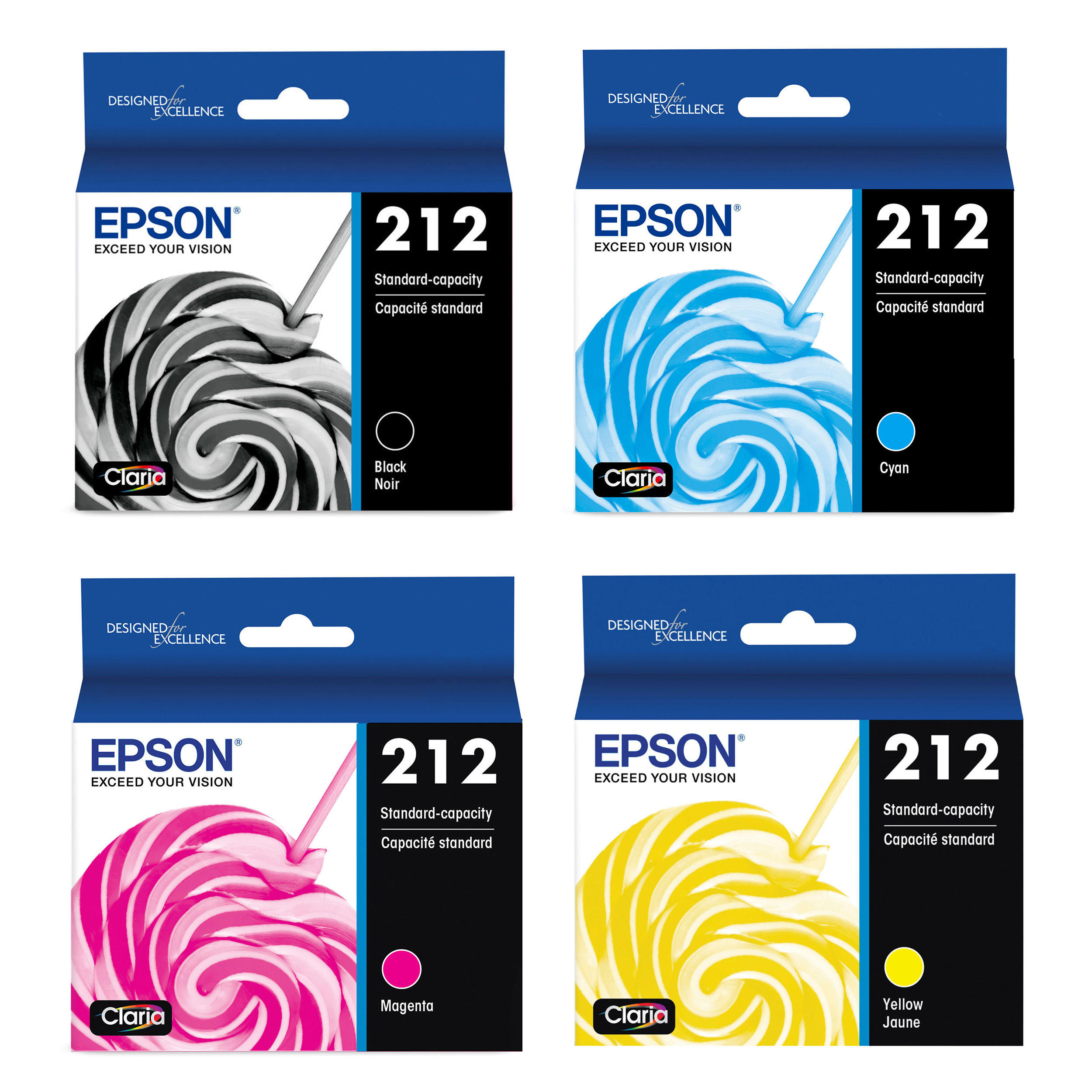 Epson 212 T212 Original Ink Cartridge Combo BK/C/M/Y