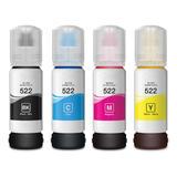 Epson T522 T522120 T522220 T522320 T522420 Compatible Ink Bottle Combo BK/C/M/Y
