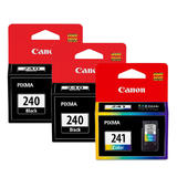 Canon PG-240 CL-241 Original Ink Cartridge Combo 2BK+1Color (5207B001 5209B001)