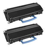 Lexmark E250A21A E250A11A Remanufactured Black Toner Cartridge - Economical Box - 2/Pack