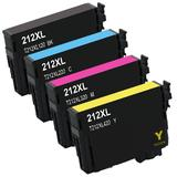 Epson 212XL T212XL Remanufactured Ink Cartridge Combo High Yield BK/C/M/Y