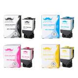 Lexmark 71B10K0 71B10C0 71B10M0 71B10Y0 Compatible Toner Cartridge Combo BK/C/M/Y - Moustache®