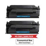 Compatible HP 58X CF258X Black Toner Cartridge High Yield - No Chip - Economical Box - 2/Pack