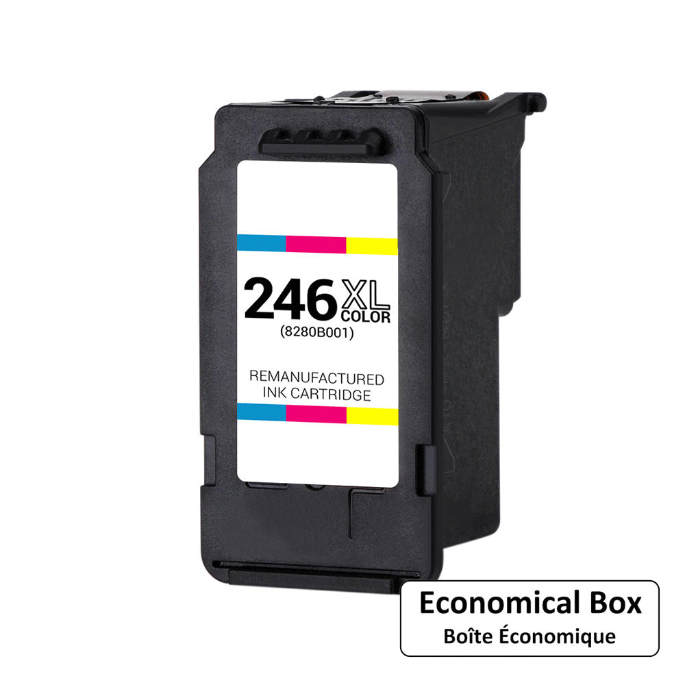 Canon CL-246XL Remanufactured Color Ink Cartridge High Yield (8280B001AA) - Economical Box