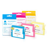Brother LC51 3PKS Compatible Color Ink Cartridge Combo C/M/Y - Moustache®