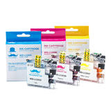 Brother LC203 3PKS Compatible Color Ink Cartridge Combo High Yield C/M/Y - Moustache®
