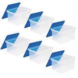 """Storex® Plastic Storage Box, 18"""" x 14"""" x 11-1/2"""",6 PACK, 789800"""
