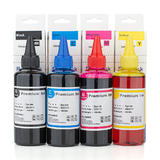 Universal Dye Refill Ink Combo for HP Printer Cartridges BK/C/M/Y - 4 x 100ml